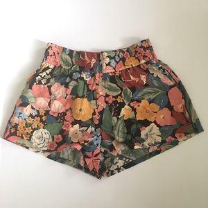 Zara Trafaluc Floral Shorts XS